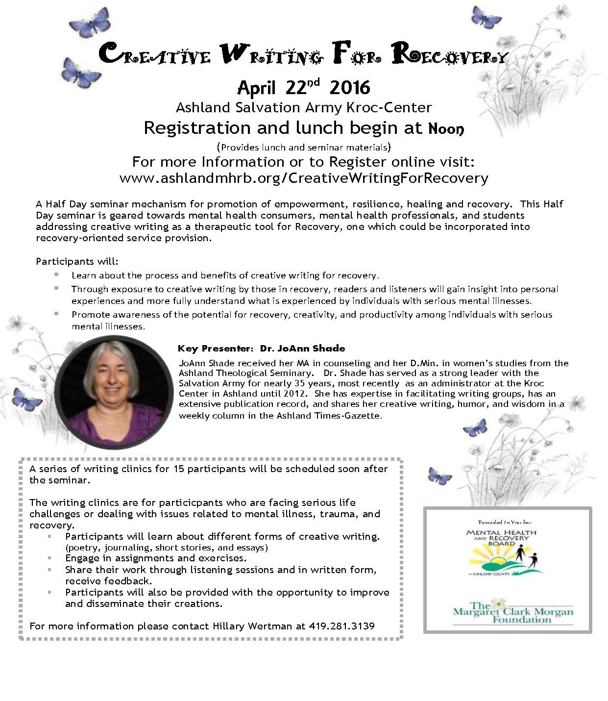 Creative Writing for Recovery - Ashland County MHRB