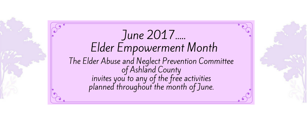Elder Abuse Empowerment Month