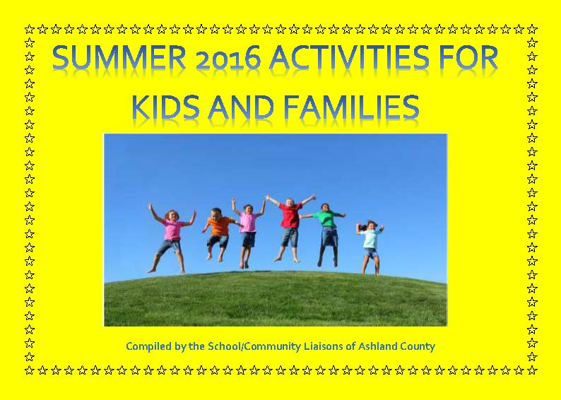 Summer 2016 Activities for Kids and Families
