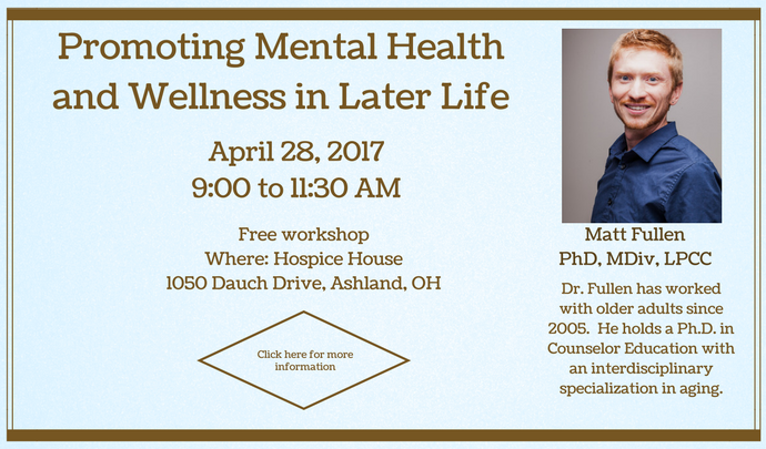 Promoting Mental Health and Wellness in Later Life